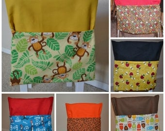 Small Double Layer Chair Pocket, Available in Any Quantity -- Customized Just for You
