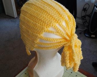 Chrocheted Pony Tail Hat