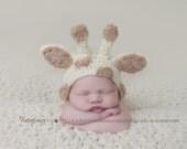Giraffe Hat Newborn Baby Hat Knit Newborn Hat Crochet baby Hat