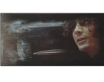 "40"" X 20"" Syd Barrett Art Original Mixed Media Painting"
