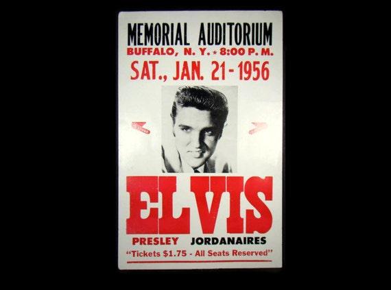 vintage elvis presley concert poster memorial auditorium