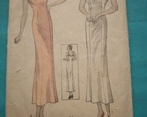 Ladies' Full Slip  Size 42 Bust 42 All 5 Pieces Vintage 30s Simplicity Sewing Pattern 1336 Downton Abbey Look