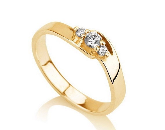items similar to engagement promise ring gold plated