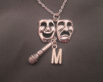 Theater Necklace Personalized with Initial