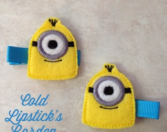 One or Two Eyed Minion Hair Clip