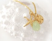 The Beachcomber: Starfish, Sand Dollar, Beach Charms Necklace