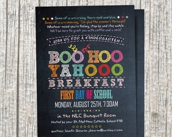 Chalkboard BOO HOO Breakfast Invitation / Digital / Printable