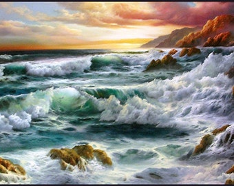 "Judy Dy'ans ""Pacific Surf"" - Original Oil/Canvas - COA - See Live at GallArt - Buy/Sell/Trade"