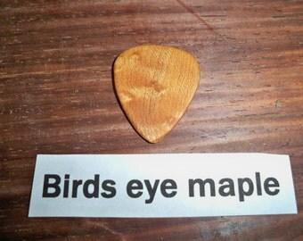 Birds eye maple guitar pick
