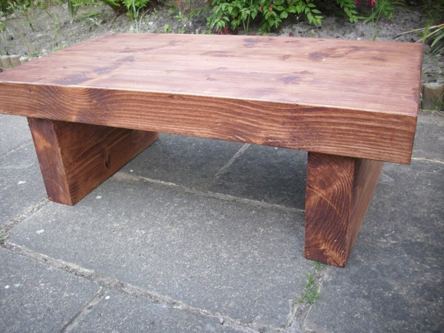 Coffee Table Rustic Chunky Thick Solid Wood By Redcottagefurniture