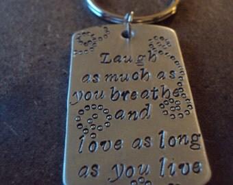 Laugh, Love, Live... keychain