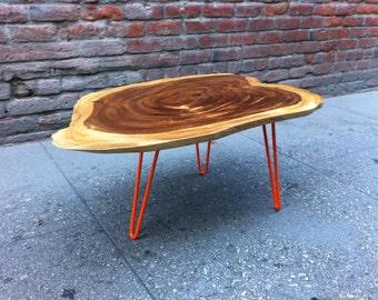 SOLD - Beautiful Live Edge Acacia Wood Coffee Table