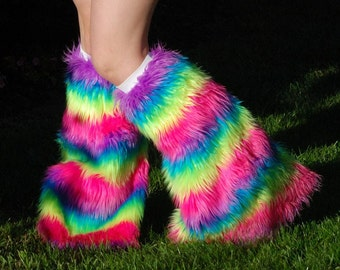 Faux fur fluffies/leg warmers custom color and size