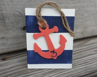 Nautical wedding table numbers, beach wedding, sea side wedding, anchor wedding
