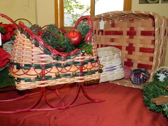 Victorian Christmas Sleigh Basket