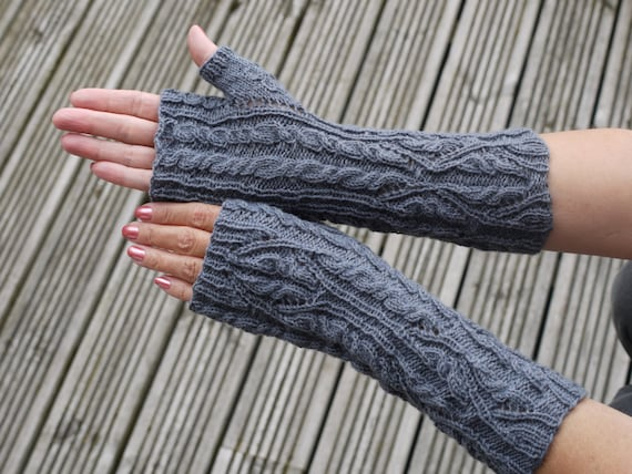 Fingerless Gloves Knitting Pattern Nz : Principessa Fingerless Gloves Hand Knitting Pattern (pdf ...