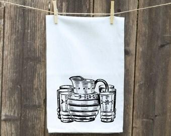 Flour Sack Towel-Tea-Dish-Hand-Kitchen-Ice Tea Time