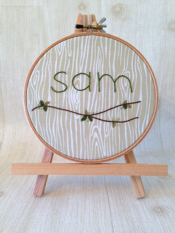 Embroidered hoop art personalized gifts hand by