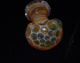 Honeycombed glass spoon pipe