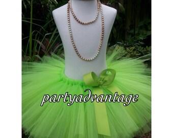 Handmade tutu, lime green tutu skirt, girl tutu, birthday tutu, wedding tutu, pageant, photo shoot