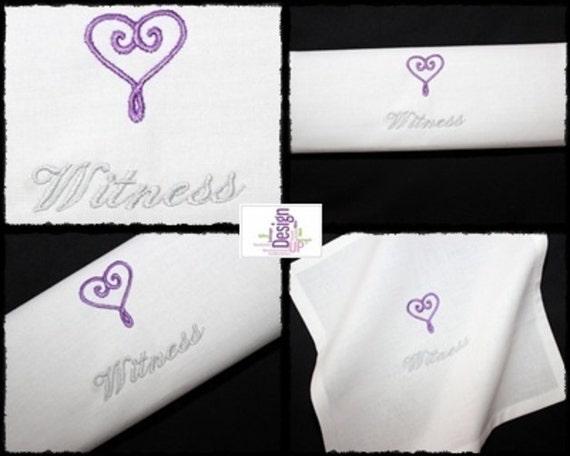 Wedding Embroidered Handkerchiefs
