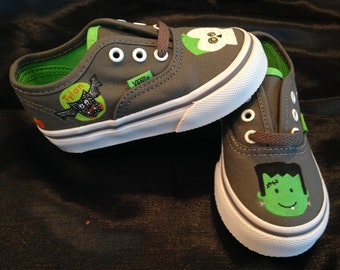 Halloween painted shoes