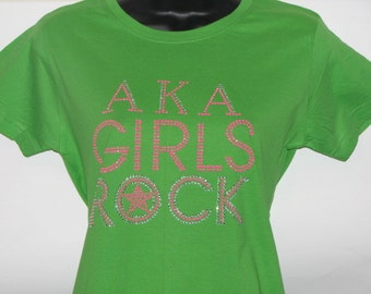 Alpha Kappa Alpha (AKA) Girls Rock T Shirt