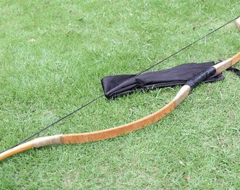 Longbowmaker Handmade Archery Hungarian Pigskin Bow Traditional Recurve Longbow 20-80LBS XSYZ