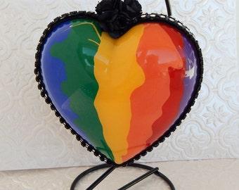 Lgbt Gift Gay Pride Rainbow Heart Lgbt Hearts Couples