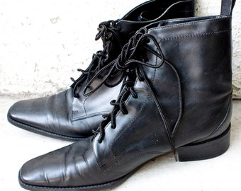 popular items for black witch boots on etsy