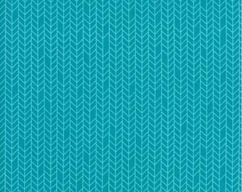 Native Sun Turquoise Herringbone by Abi Hall for Moda  - 1 Yard