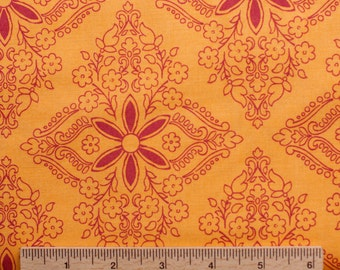 Design Loft freespirit fabric Garden Patio PWFS015 Cadmium yellow red gold  flowers floral sewing quilting 100% cotton fabric by the yard
