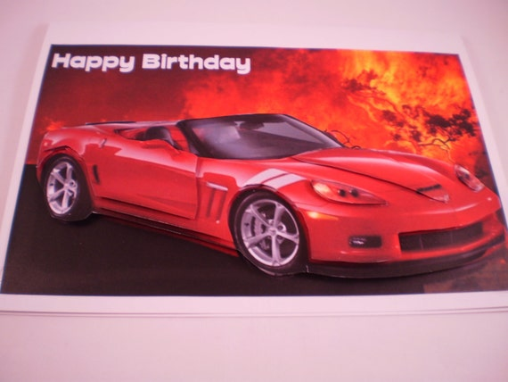 carte d 39 anniversaire anniversaire voiture de sport rouge. Black Bedroom Furniture Sets. Home Design Ideas