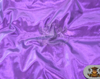 """Lame Tissue Solid Fabric PURPLE / 45"""" Wide / Sold by the yard"""