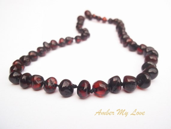 Baltic Amber Baby Teething Necklace Baroque By Ambermylove