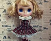 For sechchbo~Blythe ruff dress sets of tartan & Alice~