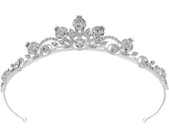 Delicate Vintage Style Petite Crystal Wedding Tiara