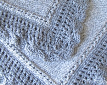 Knitting Pattern - Knit Baby Blanket PATTERN 71 - Royal - Instant Download PDF Pattern
