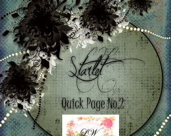 Digital Scrapbooking - Starlet Digital Scrapbooking Quick Page No.2