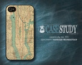 """Available for iPhone 4, 5 / 5s, Samsung Galaxy S3 or S4 - """"Vintage Manhattan"""" Phone Case - Recreation of old Manhattan, NY map. Unique gift!"""