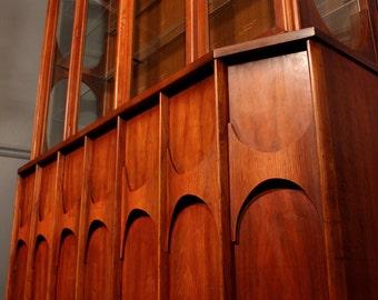 Mid-Century Modern Kent Coffey Perspecta Credenza/Hutch China Cabinet
