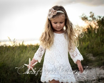 The Chloe - Flower Girl Lace Dress, Birthday Dress made for girls, toddlers, infants, ages 1T, 2T,3T,4T,5T,6, 7, 8, 9/10, 11/12,13/14