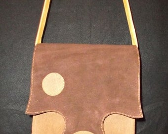 Handmade Suede & Leather  Trisha  Bag