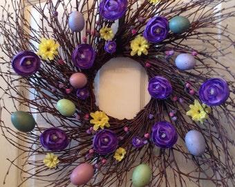Easter Wreath, Spring Wreath, Summer Wreath