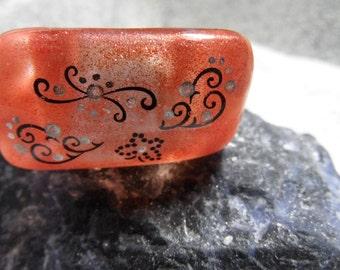 kupferbrauner acrylic ring