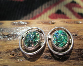 Opal Post Sterling Earrings