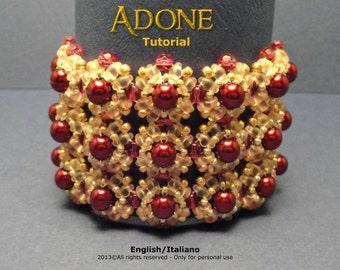 Tutorial Adone Bracelet - beading pattern