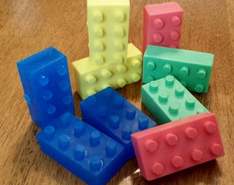 Handmade Lego Soap Set of 10