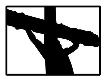 Jesus Cross Decal - Jesus Crucifix Bumper Sticker - Christian Cross Decal - Jesus on Cross Sticker