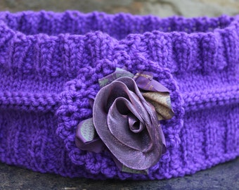 Ear warmer , Head wrap ,  Warm cosy ear warmer , Knit ear warmer , Knit head-band , Bandana  , Winter headband , Turban headband